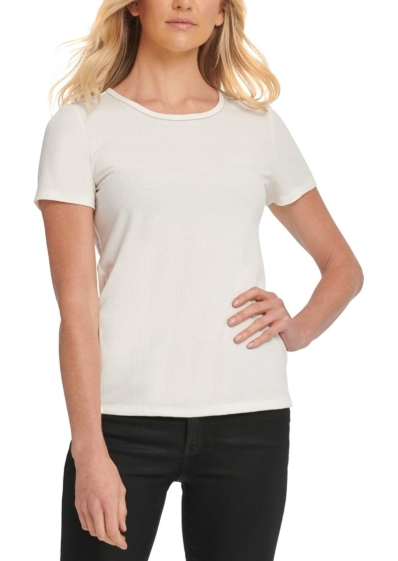 Dkny Beaded-Neck Top
