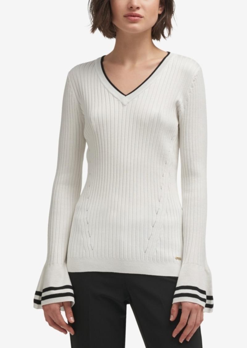 37e96507da DKNY Dkny Bell-Sleeve Sweater