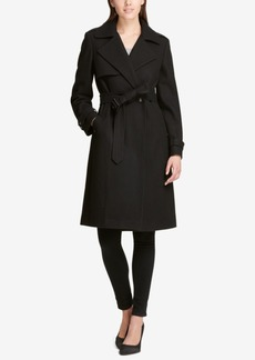 Dkny Petite Double-Breasted Trench Coat, Created for Macy's