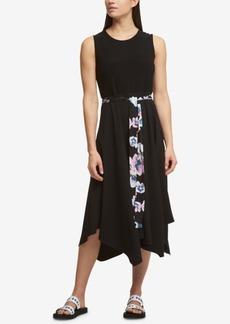 Dkny Belted Handkerchief-Hem Dress