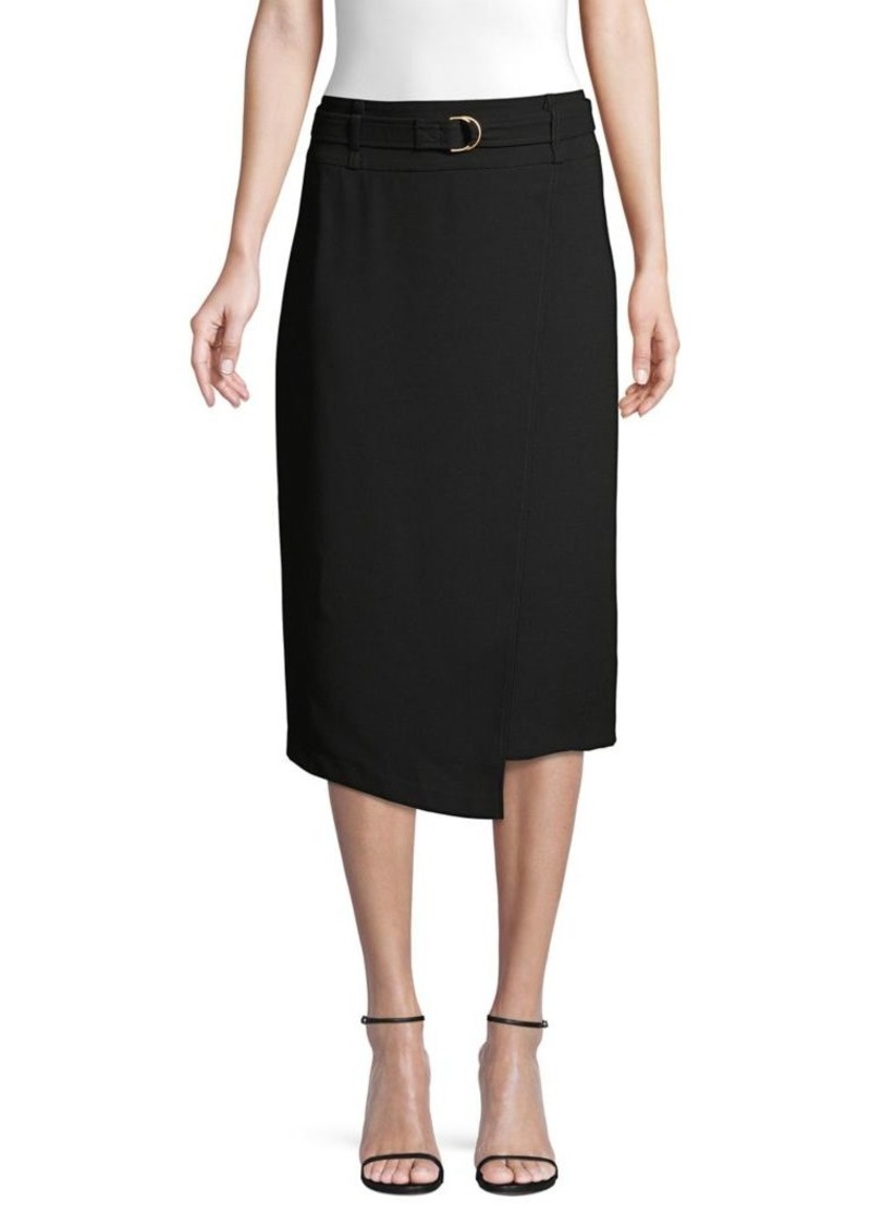 DKNY Donna Karan Belted Midi Skirt