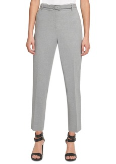 Dkny Belted Straight-Leg Dress Pants