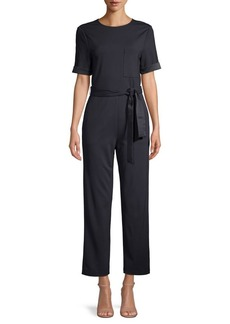 DKNY Donna Karan Belted Straight-Leg Jumpsuit
