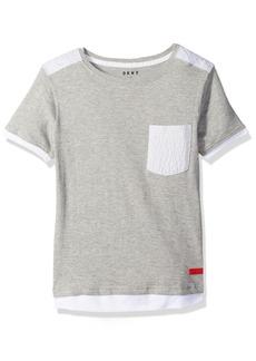 DKNY Big Boys' Short Sleeve Crew Neck Pocket T-Shirt
