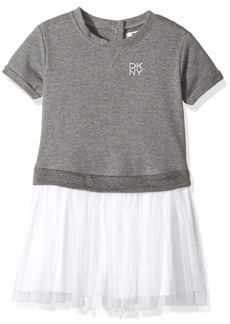 DKNY Big Girls' Casual Dress (More Styles Available) 1109DG Heather Grey 8/10