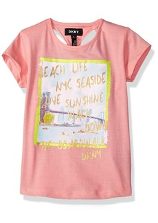 DKNY Big Girls' Short Sleeve T-Shirt