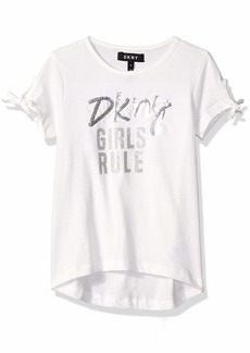 DKNY Big Printed Girls Rule Top egret