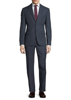 DKNY Birdseye Slim-Fit Two-Button Solid Wool Suit