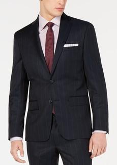 Dkny Blue Wide Pinstripe Modern-Fit Jacket