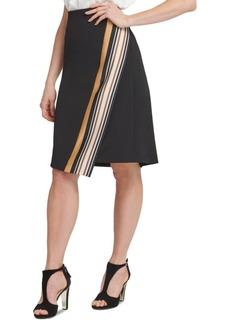 Dkny Border-Print Wrap Skirt