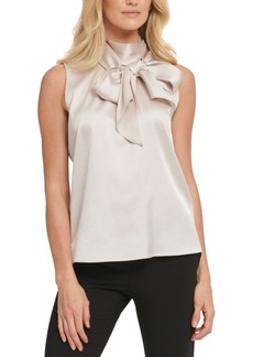 Dkny Bow Mock-Neck Blouse