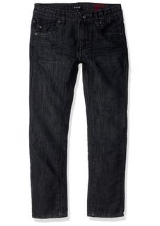 DKNY Boys' Big Greenwich Slim Fit Stretch 5 Pocket Denim Jean wash Black