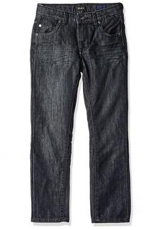 DKNY Boys' Big Mott Stretch Denim Straight Fit Jean wash Black