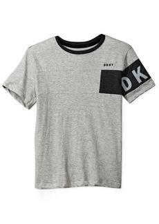 DKNY Boys' Little Short Sleeve Crew Neck Slub Jersey T-Shirt
