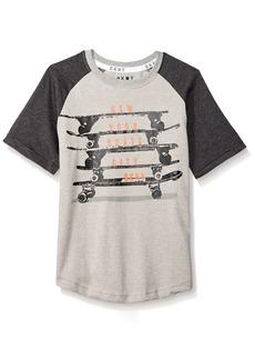 DKNY Boys' Little Skate Boards Short Sleeve Crew Neck T-Shirt