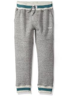 DKNY Boys' Little Snow Marled Fleece Pull On Pant