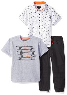 DKNY Boys' Toddler SoHo Sport T-Shirt and Pull-On Twill Jog Pant