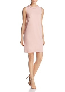 DKNY Braided Neck Shift Dress