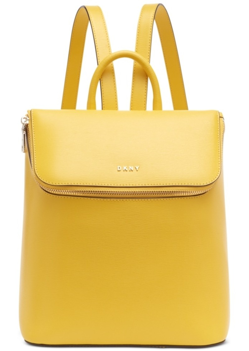 Dkny Bryant Park Leather Top Zip Backpack, Created for Macy's