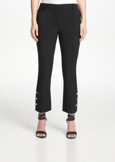 Dkny Button-Detail Skinny Ankle Pants