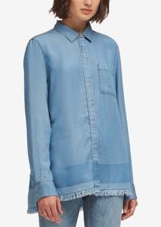 Dkny Button-Front Chambray Shirt, Created for Macy's
