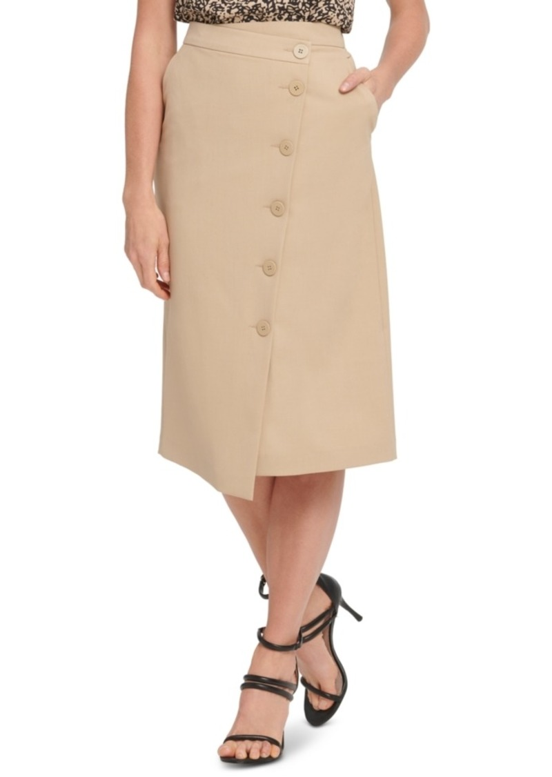 Dkny Button-Front Pencil Skirt