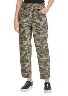 DKNY Camo Paperbag Waist Pants