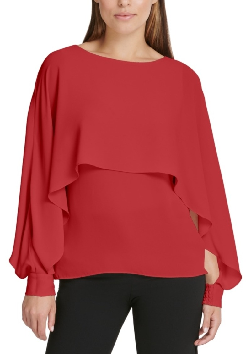 Dkny Cape-Overlay Top