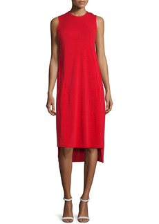 DKNY Cape-Sleeve Jersey Midi Dress