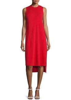 DKNY Cape-Sleeve Jersey Midi Dress