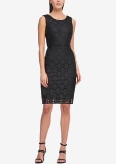 Dkny Circle Lace Sheath Dress, Created for Macy's