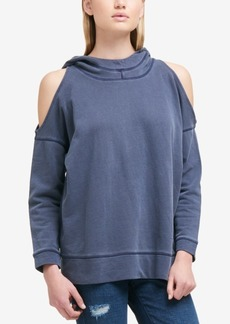 Dkny Cold-Shoulder Pullover Hoodie