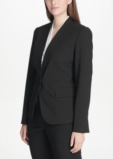 Dkny Petite Collarless Single-Button Blazer