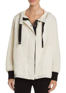 DKNY Color-Block Hooded Jacket