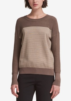 Dkny Color-Blocked Striped Sweater, Created for Macy's