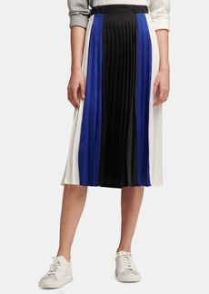 Dkny Colorblock Pleated Skirt, Created for Macy's