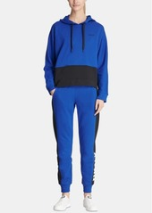Dkny Colorblocked Logo Pullover Hoodie, Created for Macy's