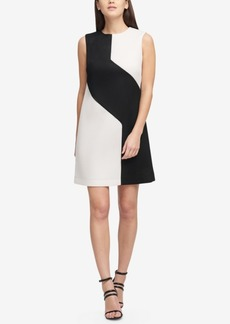 Dkny Colorblocked Mesh Shift Dress, Created for Macy's
