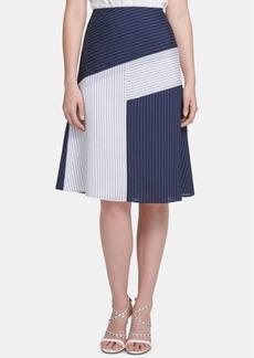 Dkny Colorblocked Midi Skirt