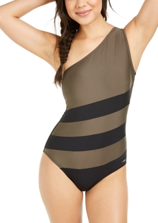 Dkny Colorblocked One-Shoulder One-Piece Swimsuit, Created for Macy's Women's Swimsuit