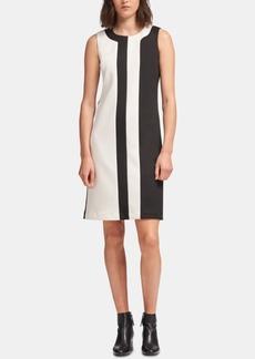 Dkny Colorblocked Sheath Dress