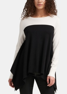 Dkny Colorblocked Trapeze Sweater