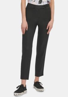 Dkny Contrast-Piping Straight-Leg Pants