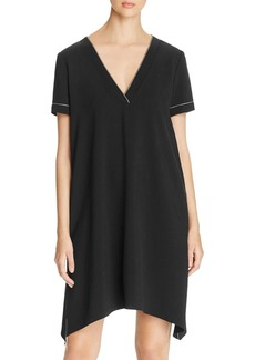 DKNY Contrast Stitching V-Neck Dress