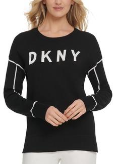 Dkny Contrast-Trim Logo Sweater