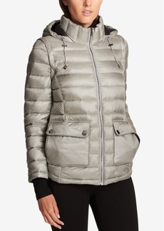 Dkny Sport Convertible Down Puffer Coat