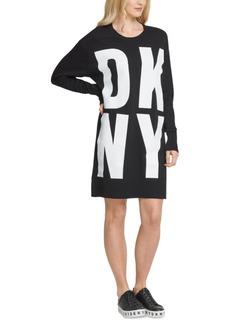 Dkny Cotton Block-Letter Logo Dress