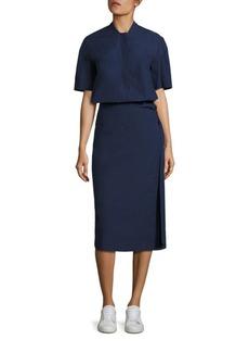 DKNY Cotton Poplin Wrap Dress