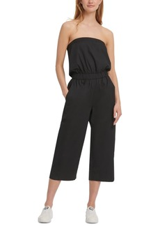 Dkny Cotton Strapless Jumpsuit