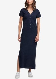 Dkny Cotton V-Neck Maxi Dress
